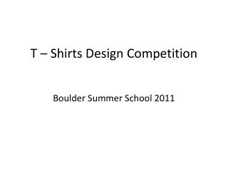 T   Shirts Design Competition