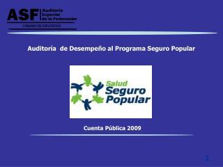 Auditor a  de Desempe o al Programa Seguro Popular