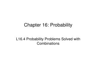 Chapter 16: Probability