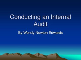 Conducting an Internal Audit