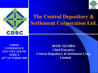 The Central Depository  Settlement Corporation Ltd.