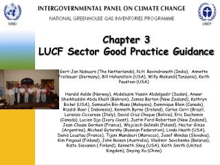 Chapter 3  LUCF Sector Good Practice Guidance