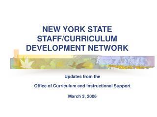 NEW YORK STATE STAFF