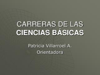 CARRERAS DE LAS CIENCIAS B SICAS