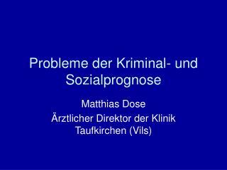 Probleme der Kriminal- und Sozialprognose