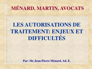 M NARD, MARTIN, AVOCATS