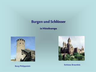 Burgen und Schl sser in Mitteleuropa