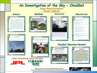 An Investigation of the Sky - CloudSat