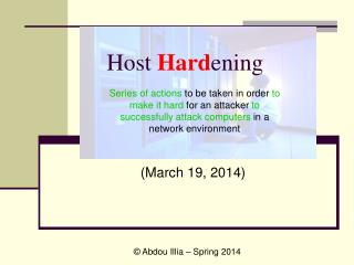 Host Hardening