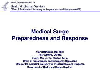 Medical Surge Preparedness and Response