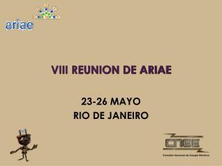 VIII REUNION DE ARIAE