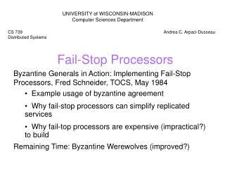 Fail-Stop Processors