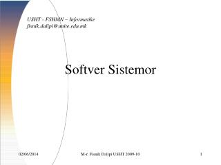 Softver Sistemor
