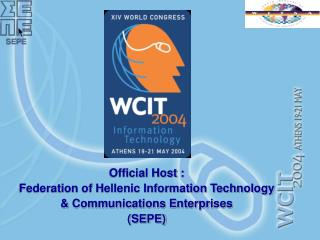 Official Host : Federation of Hellenic Information Technology   Communications Enterprises SEPE