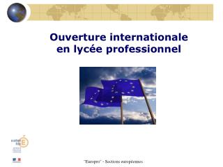 Ouverture internationale  en lyc e professionnel