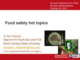 Food safety hot topics