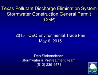 Stormwater Permitting Update