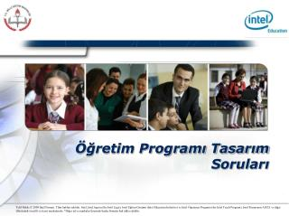 gretim Programi Tasarim Sorulari