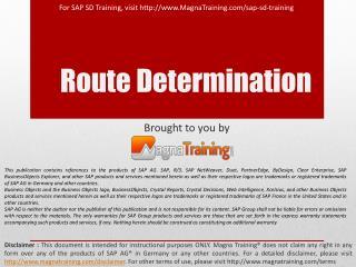 Route Determination