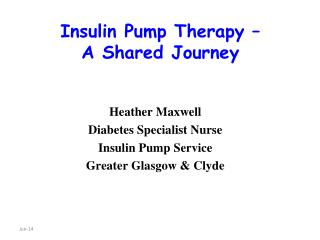 Insulin Pump Therapy   A Shared Journey