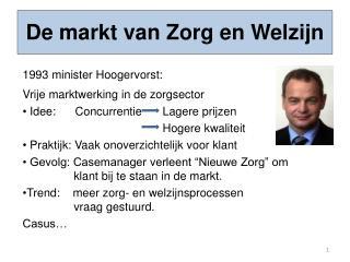 De markt van Zorg en Welzijn