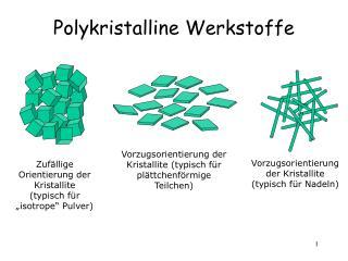 Polykristalline Werkstoffe