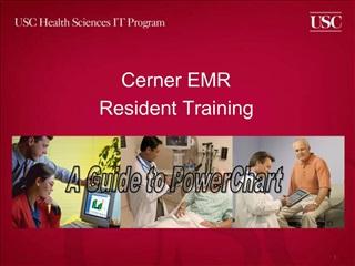 Cerner EMR Resident Training