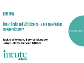 Health and Life Sciences Online