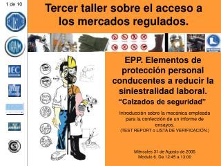 EPP. Elementos de protecci n personal conducentes a reducir la siniestralidad laboral.