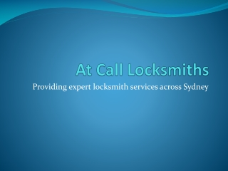 At Call Locksmiths