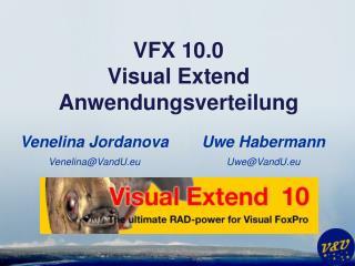 VFX 10.0 Visual Extend Anwendungsverteilung