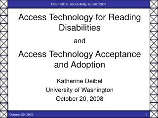 Access Technology for Reading Disabilities