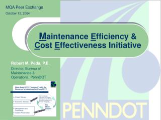 Maintenance Efficiency                Cost Effectiveness Initiative