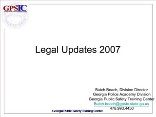 Legal Updates 2007