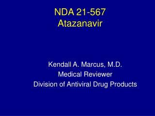 NDA 21-567  Atazanavir