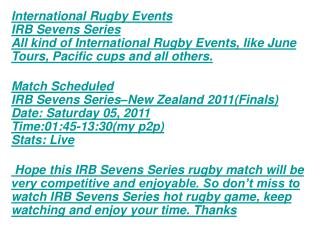 HD Tv:EnJoY New Zealand IRB Sevens Finals Live STREAM Rugby