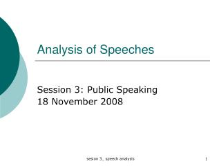 Analysis of Speeches