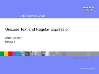 Unicode Text and Regular Expression