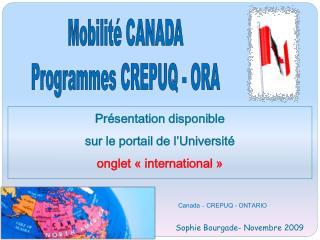 Canada   CREPUQ - ONTARIO