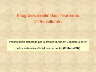Presentaci n elaborada por la profesora Ana M  Zapatero a partir de los materiales utilizados en el centro Editorial SM