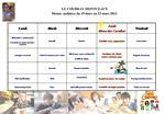 LE COUDRAY MONTCEAUX Menus  scolaires du 19 mars au 23 mars 2012