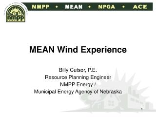MEAN Wind Experience