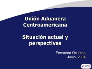 Uni n Aduanera Centroamericana   Situaci n actual y perspectivas