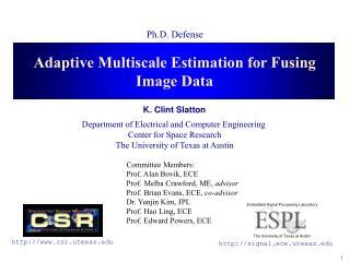 Adaptive Multiscale Estimation for Fusing Image Data