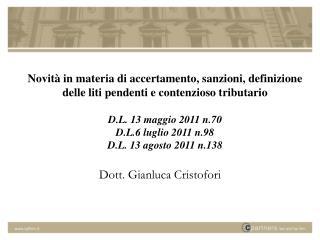 Dott. Gianluca Cristofori