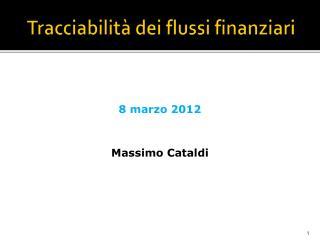 Tracciabilit  dei flussi finanziari