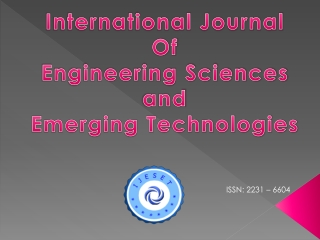 Call for Paper:International Journal:IJESET