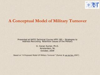A Conceptual Model of Military Turnover