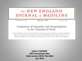 The new england journal of medicine  march 4, 2010 vol. 362 no. 9 Comparison of Dopamine and Norepinephrine in the Treat