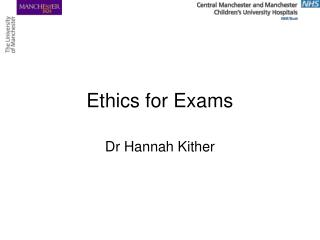 Ethics for Exams